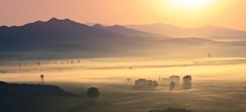 blue light shadow orange sun mist mountain tree yellow fog sunrise dawn hill croatia prideandprejudice bosniaandherzegovina sigma1770 sonyalpha700