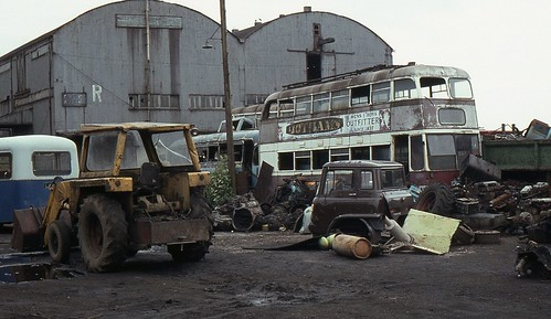 Cardiff Trolleybus In South Wales Scrap Yard June 1983