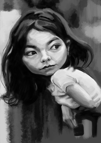 digital caricature of Bjork - 3