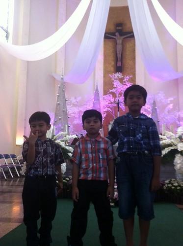 Setelah Misa Natal Anak-anak 2012 di Malang