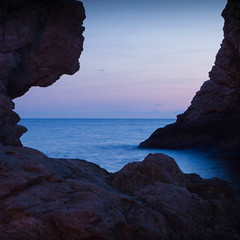 Curve through the rocks