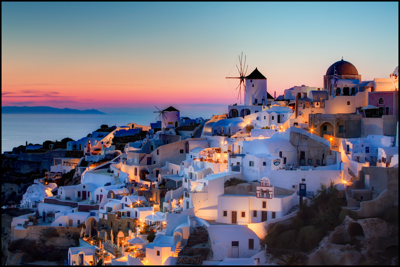 Santorini - Top Celebrity Vacation Hot Spots