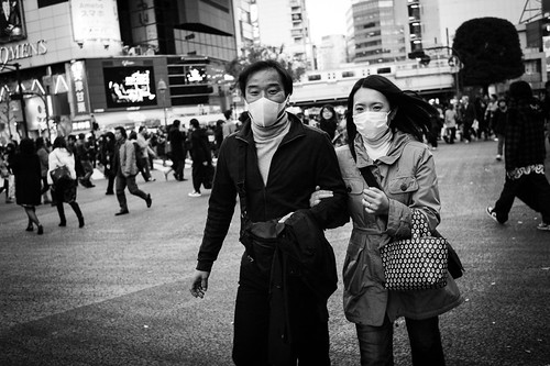 Runaway couple - Shibuya, Tokyo