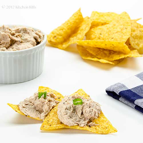 Salmon Dip in Ramekin with Chips