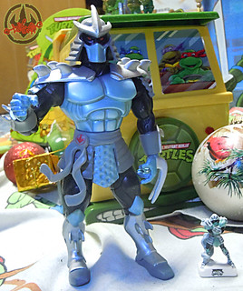 PRIME :: TORTUES NINJA  porcelain miniature prototypes xxx / SHREDDER ..with PLAYMATES '03 SHREDDER (( 2009 ))