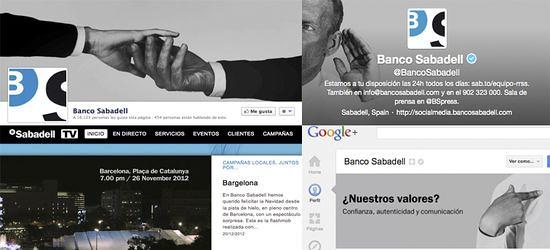 Banco Sabadell en las redes sociales