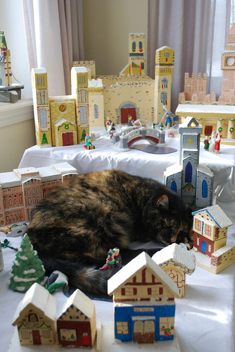 Napping in the Christmas Village