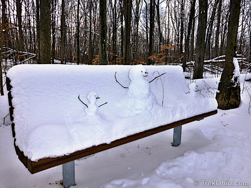Family of Snowpeople taking a rest