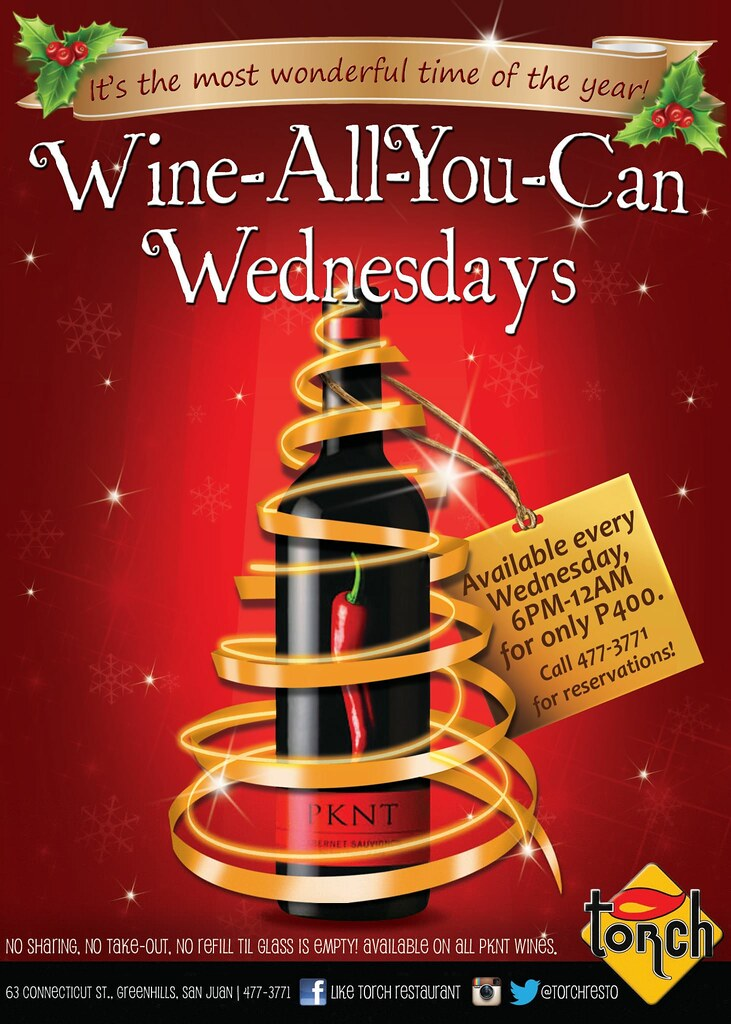 Wine-All-You-Can Wednesdays at Torch Restaurant