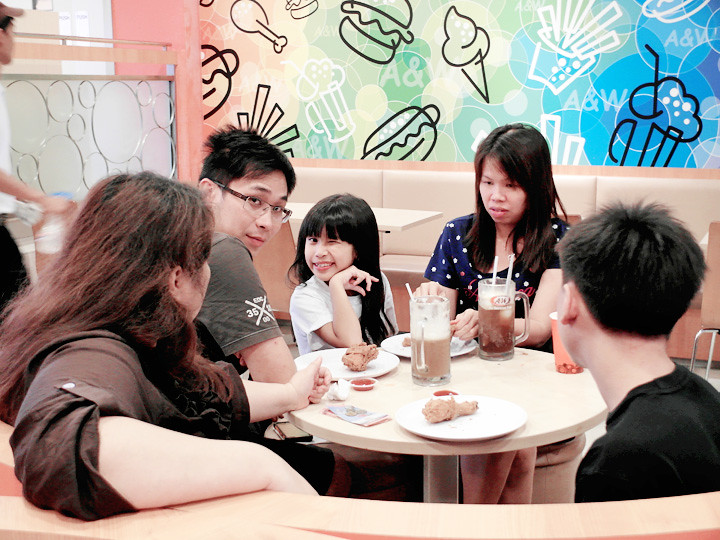 relatives at A&W