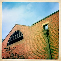 Derelict Factory Window & Drainpipe, Stourbridge, West Midlands, UK