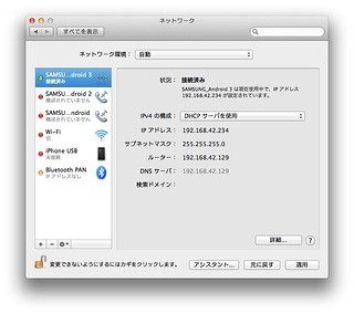 OS X Moutain Lion Network Settings for USB Tethering