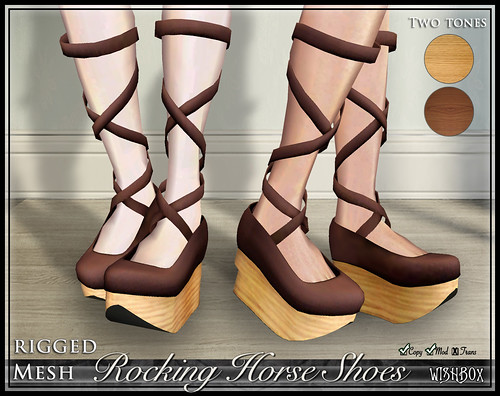 Rocking Horse Shoes from Wishbox in Second Life