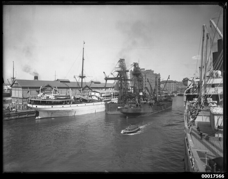 Vessels moored at wharf 16, Pyrmont, Sydney Harbour