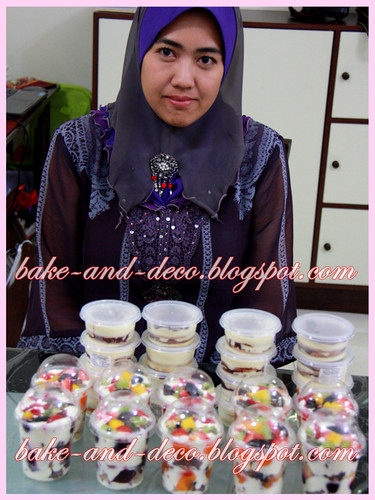 Baking Class: Lapis Cheezy & Tutty fruity Cream Dessert ~ 3 July 2012