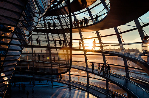 city light sunset shadow urban sun berlin glass silhouette architecture germany deutschland nikon europe shadows sightseeing explore reichstag normanfoster cupola dome d90