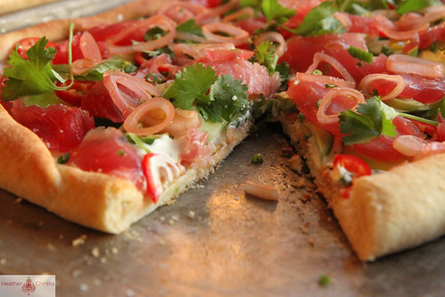 Tuna Tartar Pizza