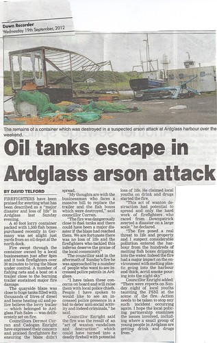 Ardglass Arson September 2011 by CadoganEnright