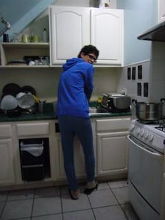 En la cocina de la cochiquera de Diana Diógenes