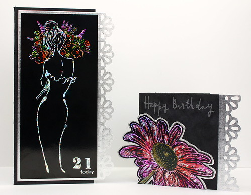 Scratchbord card and matching tag