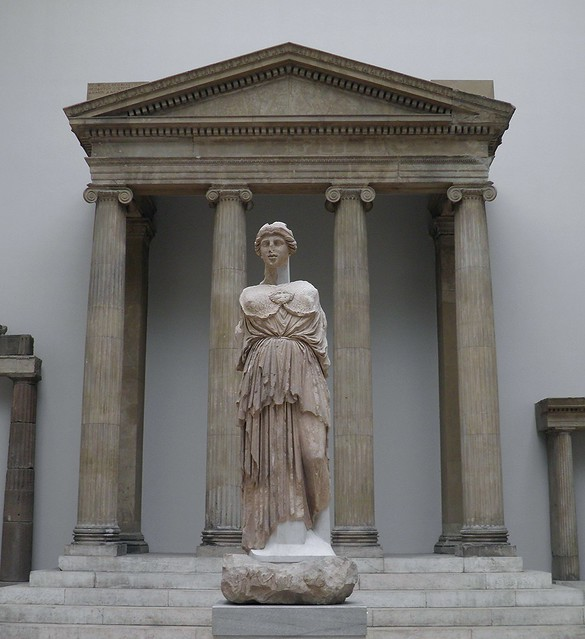 Statue of Athena Parthenos from the Library of Pergamon ...