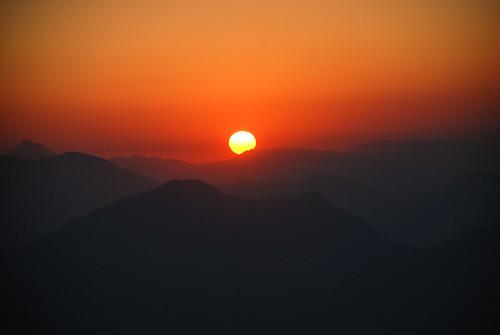 nepal sunset sun nature interesting asia gorkha