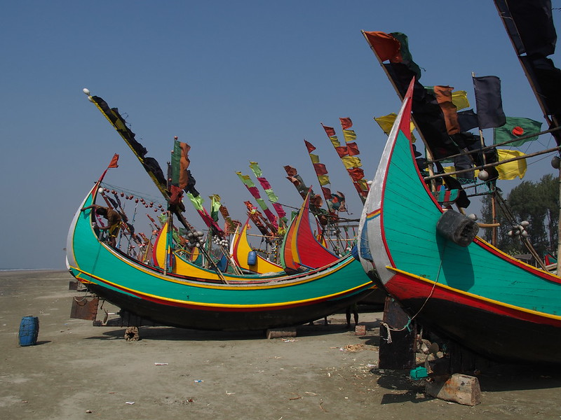 Fisherman's Boats at Beach of Teknaf
