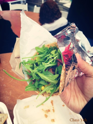 bacon argula wrap @Pigonthestreet Street Food City 2 Vancouver, BC