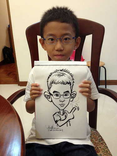 caricature live sketching for birthday party 14072012 - 5