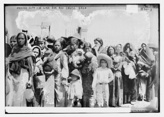 Mexico City -- in line for Red Cross soup  (LOC)