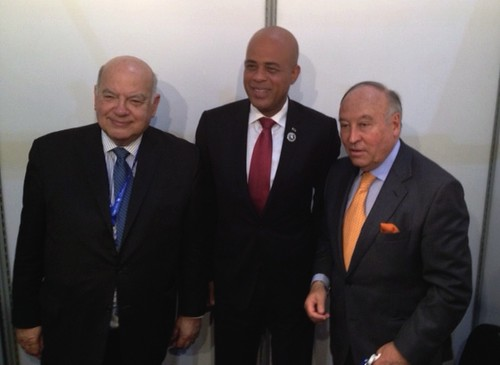 OAS Secretary General Meets with Haitian President and CEO of the CAF