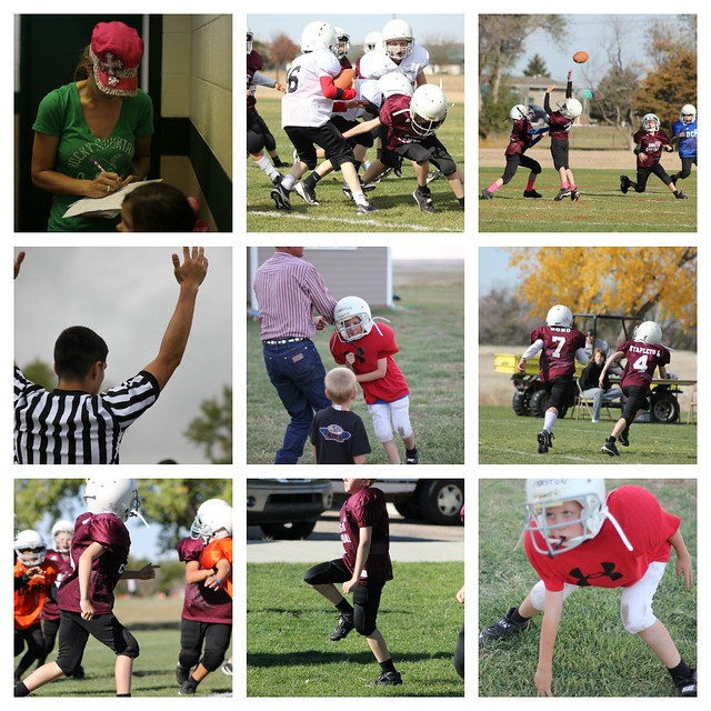 Pee Wee Football Collage