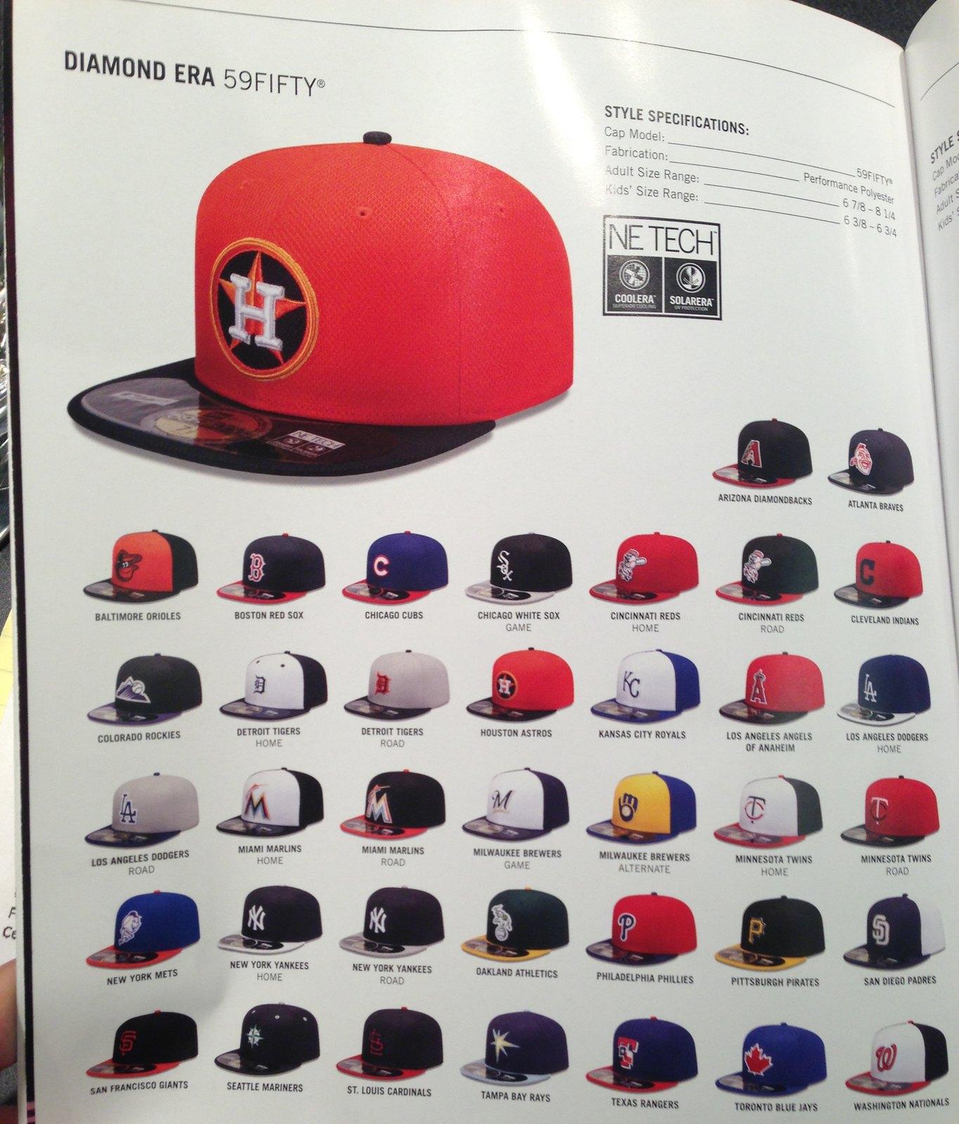 Better view of All 30 new BP-caps. From New Era Catalog   baseball 21730707789