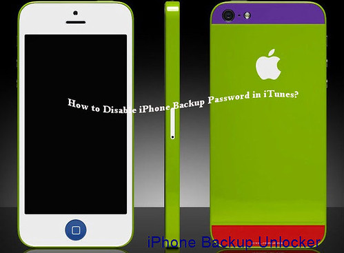 how to disable backup password in iTunes