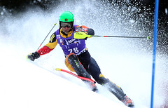 Mike Janyk is all business during the men's World Cup slalom in Wengen, Switzerland.