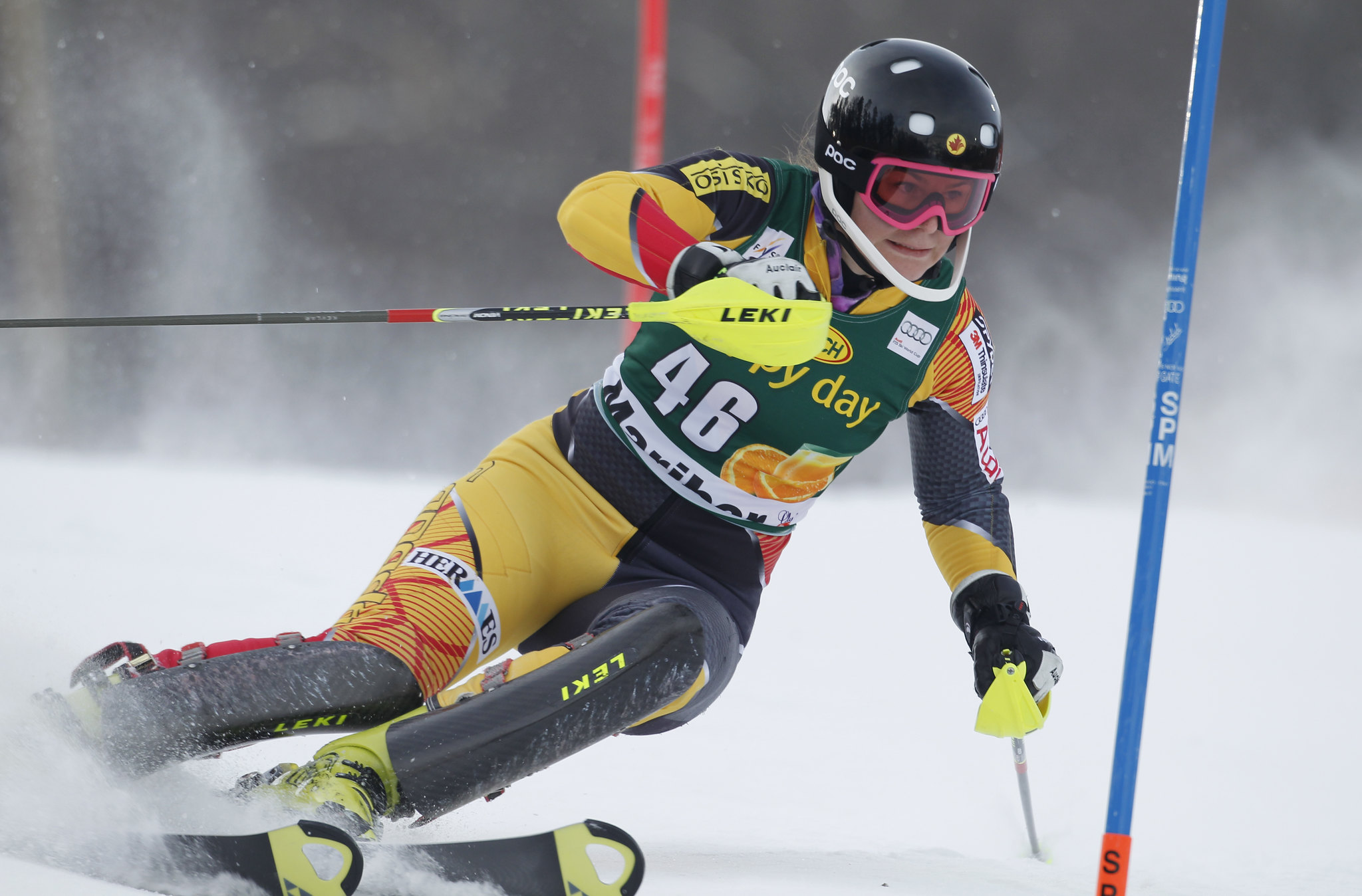 Elli Terwiel finishes 17th in slalom in Maribor, Slovenia.