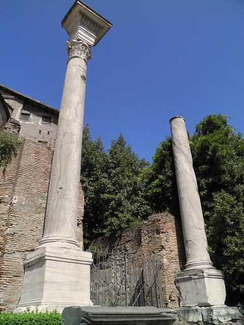 Temple of Divus Romulus, Upper Via Sacra, Rome
