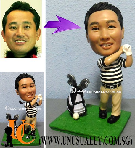 Custom Unusually 3D Swinging Male Golfer Figurine - @www.unusually.com.sg
