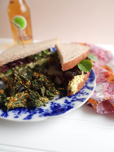 egg-less salad sandwich