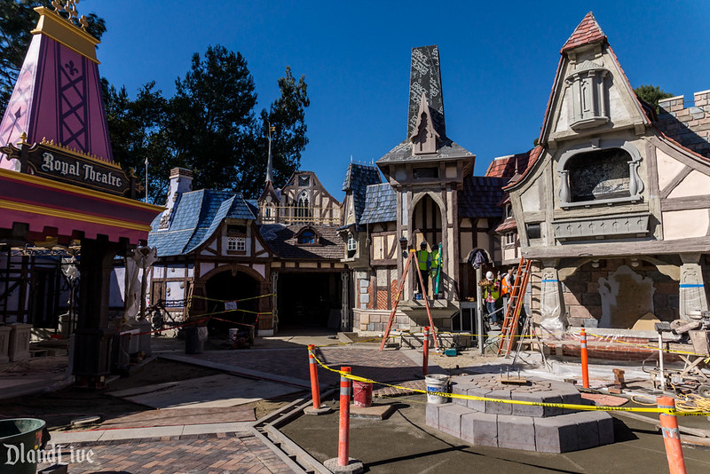 Fantasy Faire Construction at Disneyland