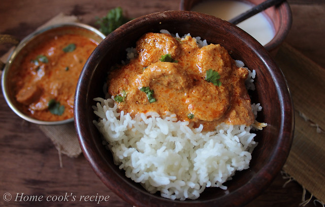 Gatte ki sabzi with rice