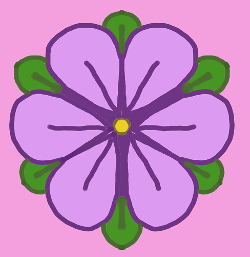 Simple Purple Flower (Kaleidoscope) by randubnick