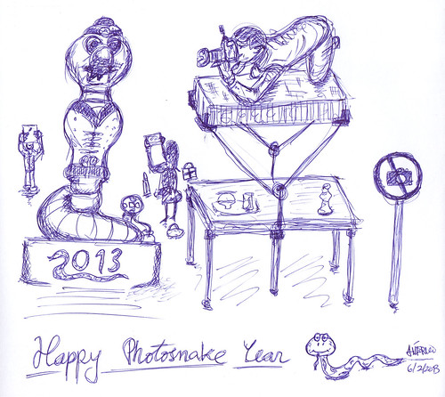 Happy PhotoSnake Year 2013! by americoneves