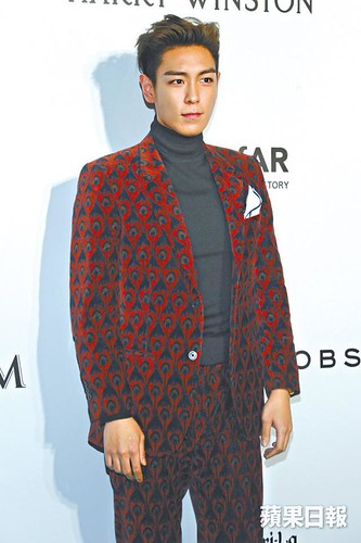 TOP - amfAR Charity Event - Red Carpet - 14mar2015 - HK Apple - 04