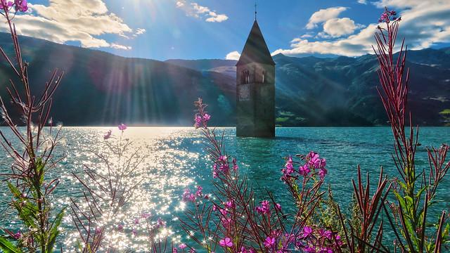 Il campanile di Curon Venosta - Lago Resia - Trentino-Alto Adige - Italia [Explored #281]