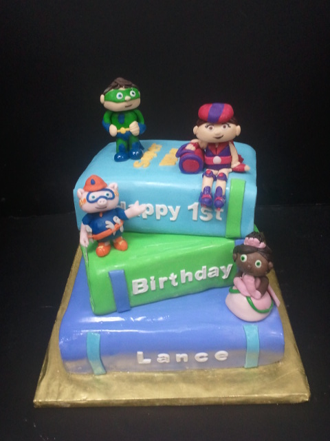 super why birthday cake