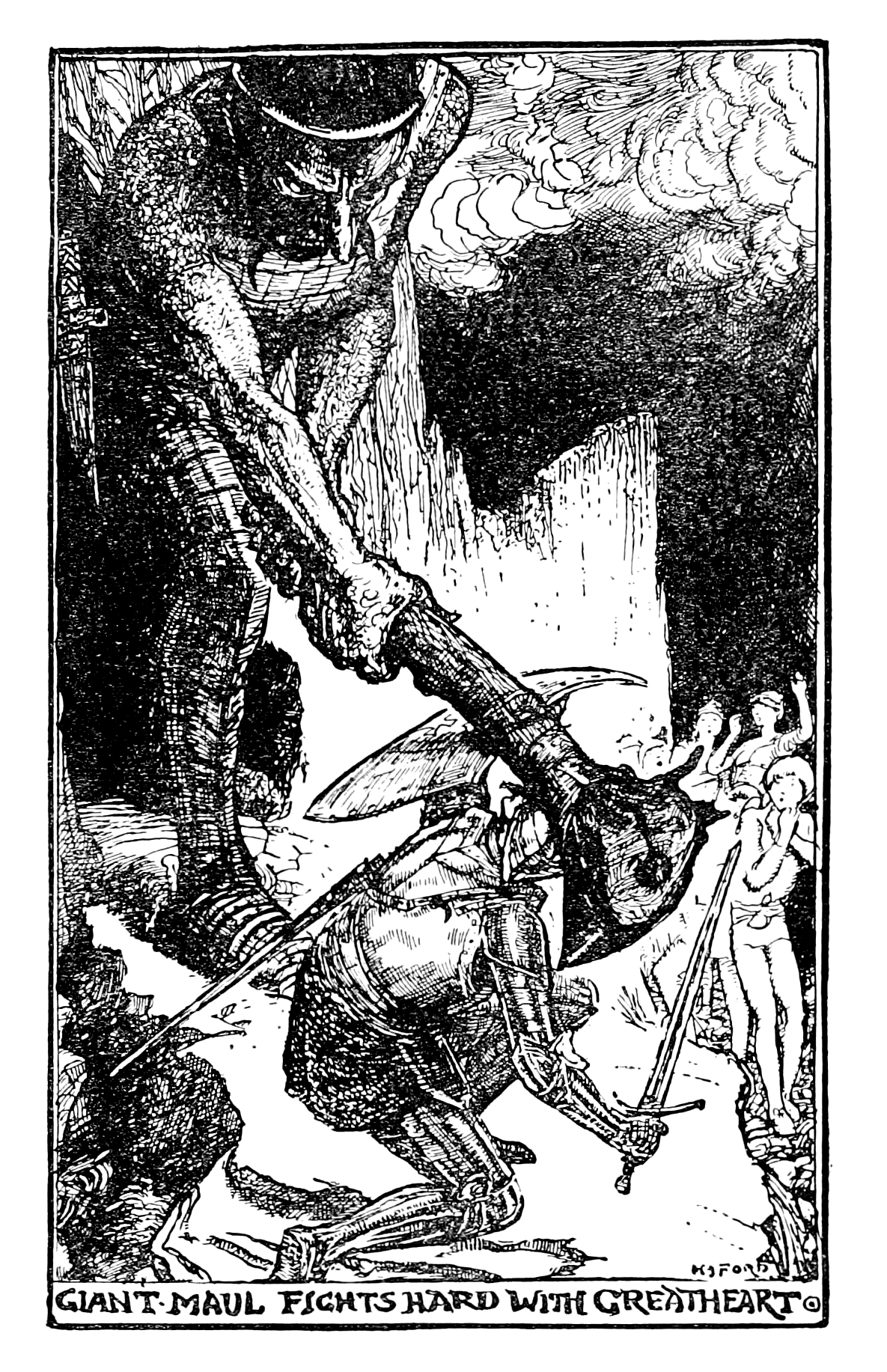 Henry Justice Ford - The pilgrim's progress by John Bunyan ; an edition for children arranged by Jean Marian Matthew, 1922 (illustration 5)