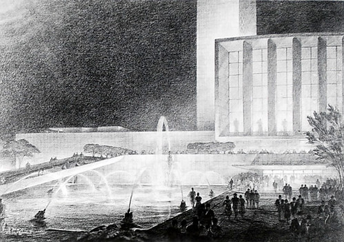 Drawings of UN Headquarters architectural projects