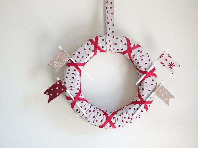 Danish Linen Wreath