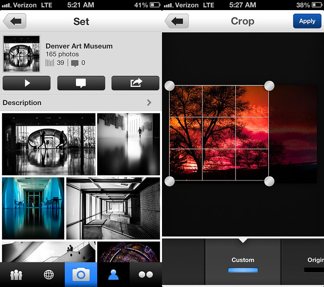 Sets and Editing Photos With the New Flickr iPhone App
